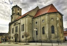Cathédrale dans la ville Pezinok Photos stock