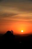 Cathédrale dans le coucher du soleil Images stock