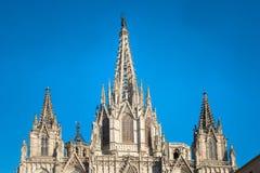 Cathédrale De Barcelone en Espagne Photographie stock libre de droits