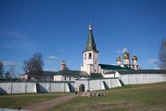 Cathédrale de monastère de Valday Iversky de notre Madame de l'ibérien Photos libres de droits