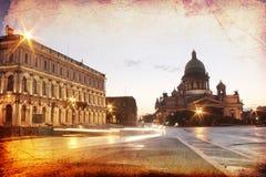 Cathédrale de rue Isaac, St Petersburg, Russie Photo stock