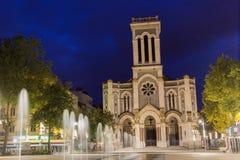 Cathédrale de Saint-Étienne dans les Frances Images libres de droits