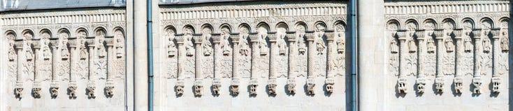 Cathédrale de St Demetrius Stone Carving, Vladimir, Russie Photos stock