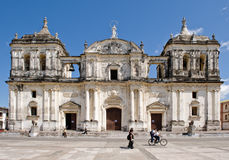 cathédrale leon Pedro san Photographie stock