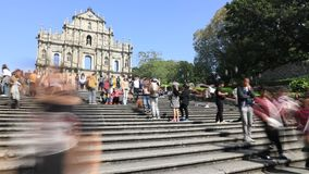 Cathédrale Macao du ` s de St Paul banque de vidéos