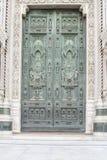 Cathédrale portaile Florence Photos libres de droits