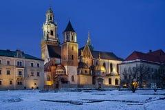 Cathédrale royale - côte de Wawel - Cracovie - la Pologne Image libre de droits