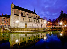 Cathédrale Saint-Pierre d'Annecy, France Royalty Free Stock Images