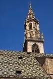 Cathdralen av Bolzano Italien Arkivfoto