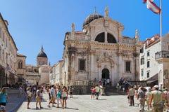 Cathédrales de rue Blaise et supposition, Dubrovnik Photographie stock