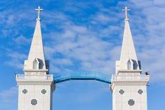 Cathedal católico o iglesia de la torre gemela de Santa Ana Imagen de archivo libre de regalías