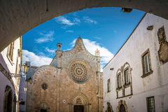 Cathederal through the Archway Royalty Free Stock Photos