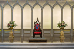 Cathedra in the Cathedral of the Assumption Royalty Free Stock Photography