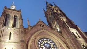Cathedra de Montreal no crepúsculo Foto de Stock Royalty Free