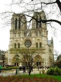 Cathedra Notre Dame Paris, Frankrijk Stock Foto