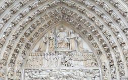 cathedral贵妇人・ de detail法国notre巴黎 免版税库存照片