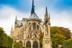 cathedral贵妇人・ de notre巴黎 免版税图库摄影