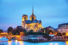 cathedral κυρία de notre Παρίσι Στοκ Εικόνες