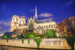 cathedral κυρία de notre Παρίσι Στοκ Φωτογραφίες