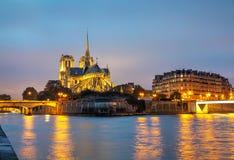 cathedral κυρία de notre Παρίσι Στοκ Φωτογραφία
