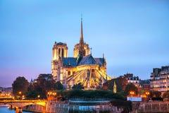 cathedral κυρία de notre Παρίσι Στοκ Εικόνα