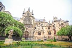 cathedral κυρία de notre Παρίσι Στοκ εικόνα με δικαίωμα ελεύθερης χρήσης