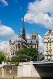 cathedral贵妇人・ de notre巴黎 巴黎 免版税图库摄影