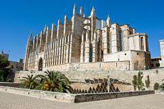 Cathedral. Of Palma de Majorca in Spain Royalty Free Stock Photo
