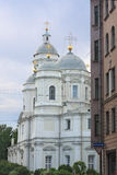 Cathedral. Orthodox cathedral in the evening Stock Photo