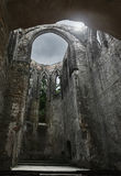 Cathedral. Mysterious view of old ruin cathedral Stock Photography