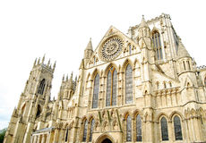 Cathedral. York gothic cathedral isolated on white background Royalty Free Stock Photo