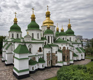 Cathedral. Cloudy day, Kiev, shooting from the bell Royalty Free Stock Photo