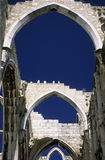 Cathedral. Ruins of Convento do Carmo in the historic center of Lissabon, Portugalia stock images
