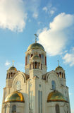 Cathedral. On blood Yekaterinburg, Russia, summer Royalty Free Stock Photography