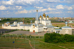 Cathedral. Orthodox Cathedral in the city of Karaganda Royalty Free Stock Image