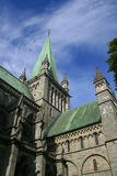 Cathedral. The medieval church Nidarosdomen in Trondheim, Norway Stock Photo