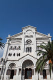 Cathedral. The main church of the people of Monaco Royalty Free Stock Image