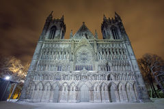 Cathedral. The Nidarosdomen Cathedral in Trondheim, Norway Stock Photo