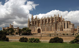 La Seu Cathedral in Palma , Mallorca , Spain Royalty Free Stock Photo