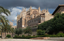 La Seu Cathedral in Palma , Mallorca , Spain Stock Image