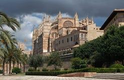 La Seu Cathedral in Palma , Mallorca , Spain stock image
