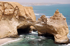 Cathedral. Rock in Peru, Paracas NP Royalty Free Stock Images