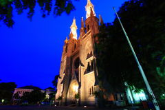 Cathedral. In Jakarta Indonesia a landmark buildings Stock Photo