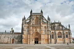 Cathedral. Facade of the Cathedral of the Monastery of Batalha in Portugal Stock Photography