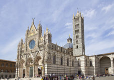 Cathedral. Sienna cathedral in tuscany in the sunlight Royalty Free Stock Image