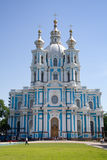 Cathedral. Smolny cathedral in St.Petersburg, Russia stock photography
