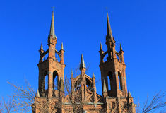 Cathedral. Old catholic cathedral in the Samara Stock Photo