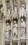 Cathedral. Statues of saints above the entrance of Virgin Mary Cathedral, Zagreb, Croatia Stock Photography
