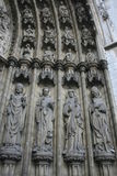 Cathedral. Religious sculptures on the outside of a European Cathedral Royalty Free Stock Photos