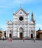 Cathedral. Santa croce in Florence Italy Stock Photography